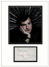 Douglas Adams Autograph Signed Display